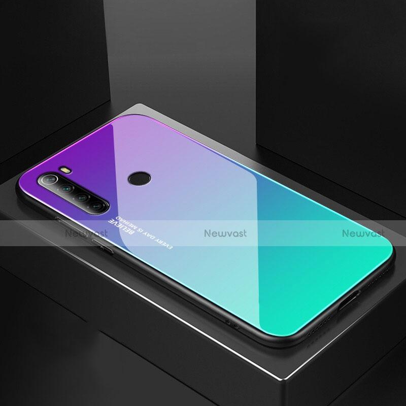 Silicone Frame Mirror Case Cover for Xiaomi Redmi Note 8 Green