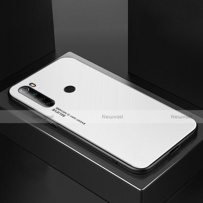 Silicone Frame Mirror Case Cover for Xiaomi Redmi Note 8 White