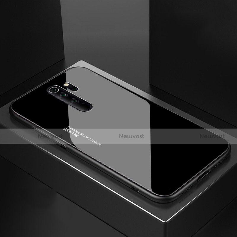 Silicone Frame Mirror Case Cover M02 for Xiaomi Redmi Note 8 Pro Black