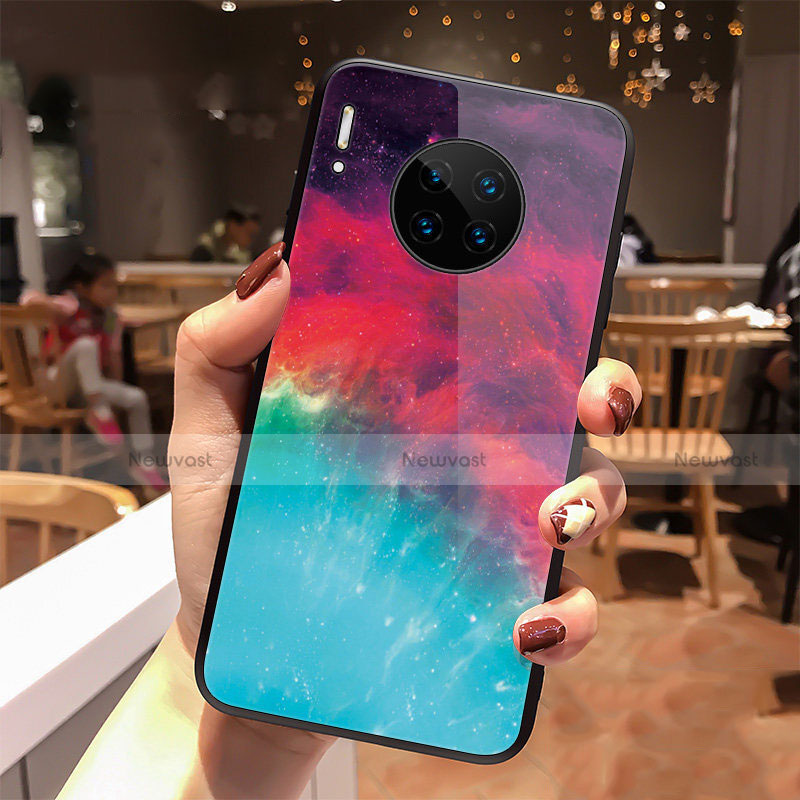 Silicone Frame Starry Sky Mirror Case Cover for Huawei Mate 30 Pro 5G Mixed
