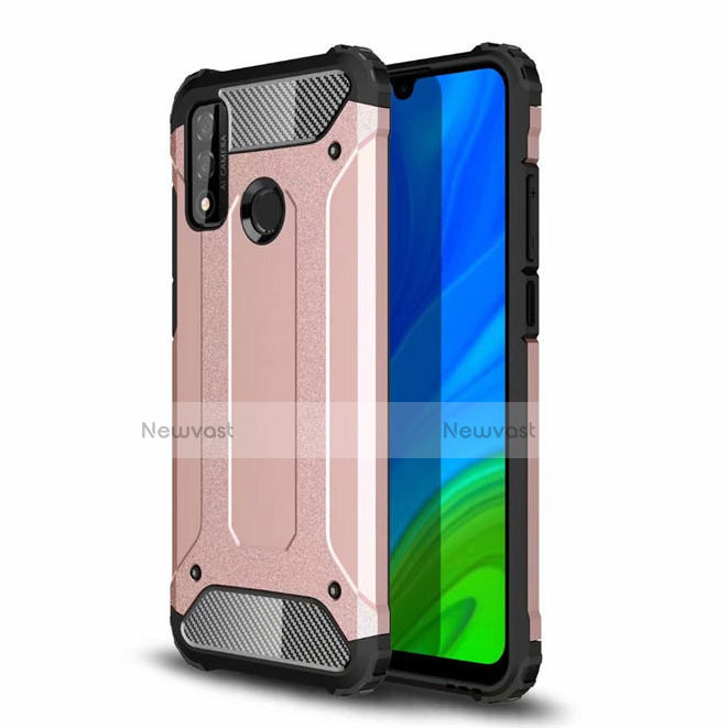 Silicone Matte Finish and Plastic Back Cover Case for Huawei P Smart (2020)