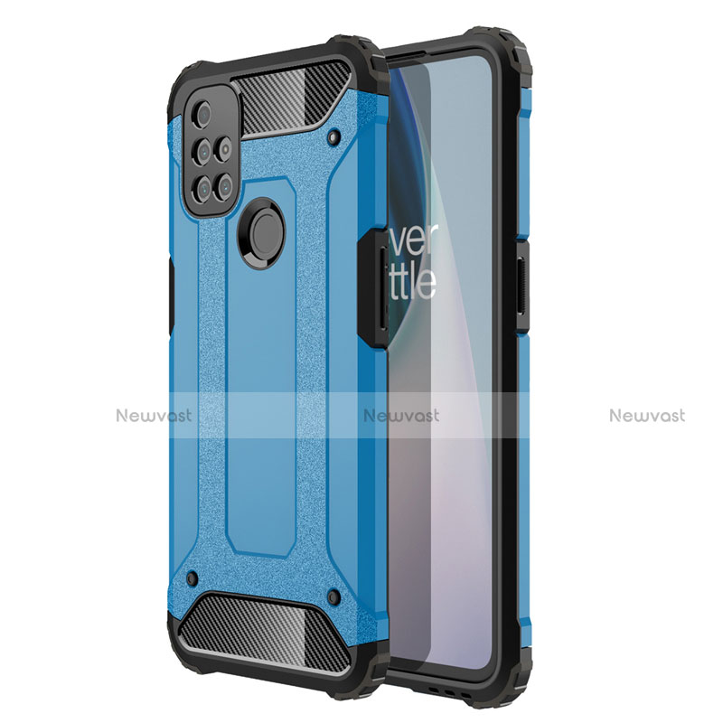 Silicone Matte Finish and Plastic Back Cover Case for OnePlus Nord N10 5G