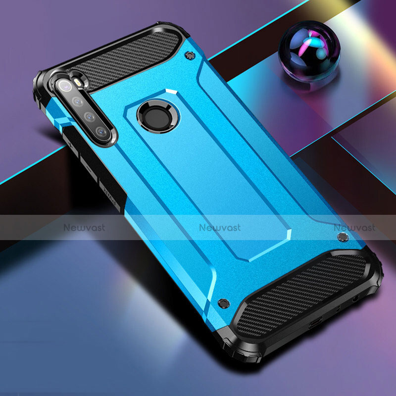 Silicone Matte Finish and Plastic Back Cover Case for Xiaomi Redmi Note 8