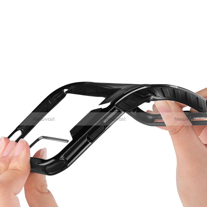 Silicone Transparent Frame Case for Apple iPhone SE (2020) Black
