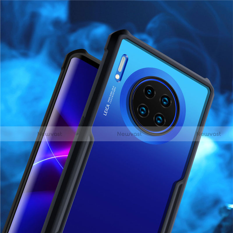 Silicone Transparent Mirror Frame Case Cover for Huawei Mate 30 Pro 5G