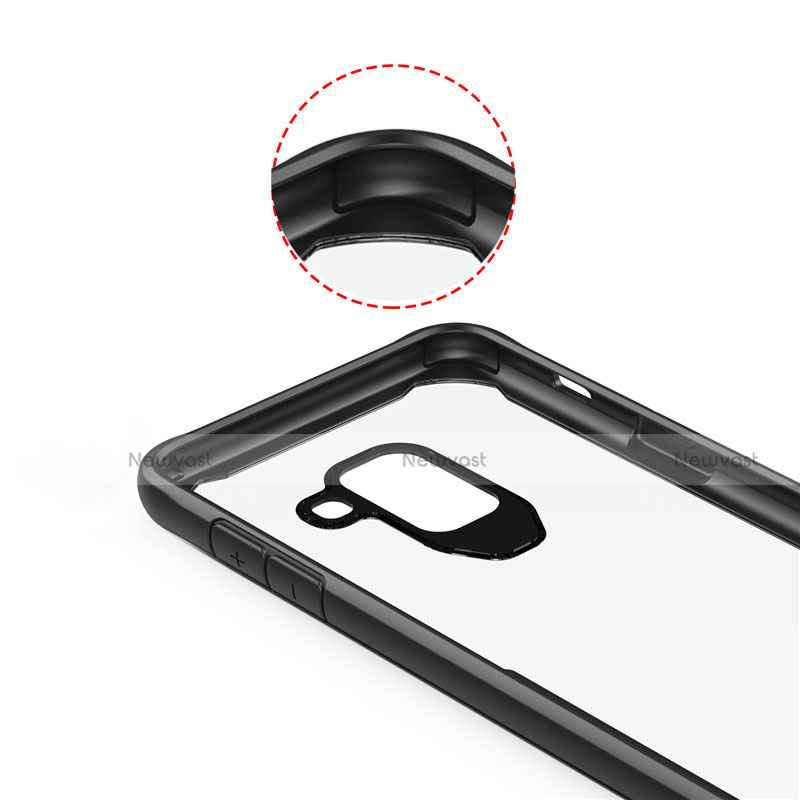 Silicone Transparent Mirror Frame Case Cover for Samsung Galaxy A6 (2018)