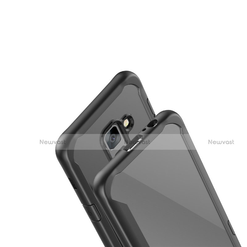 Silicone Transparent Mirror Frame Case Cover for Samsung Galaxy A6 (2018) Dual SIM