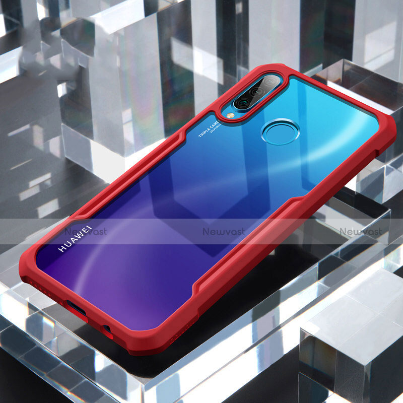 Silicone Transparent Mirror Frame Case Cover H01 for Huawei P30 Lite