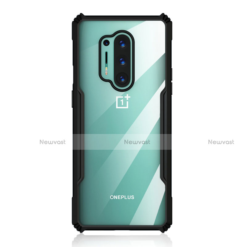 Silicone Transparent Mirror Frame Case Cover H03 for OnePlus 8 Pro