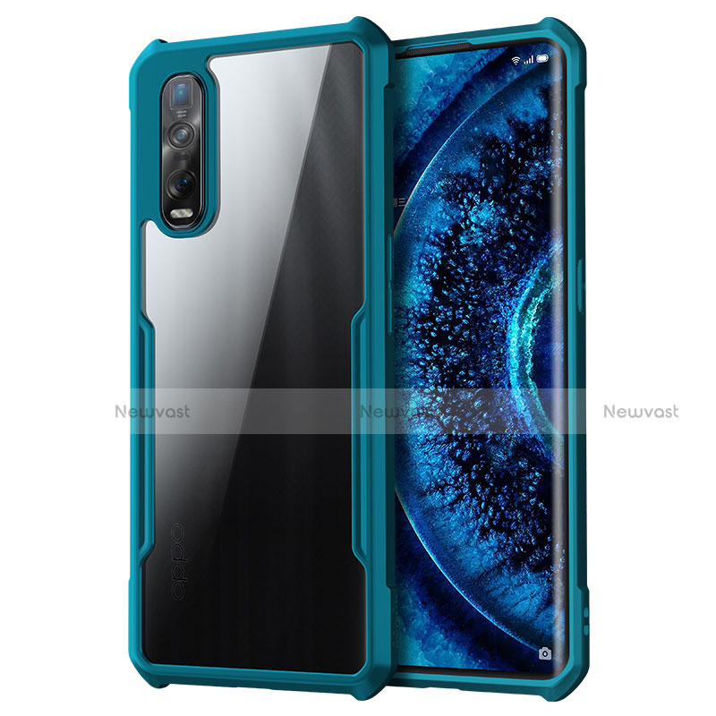 Silicone Transparent Mirror Frame Case Cover M01 for Oppo Find X2 Pro