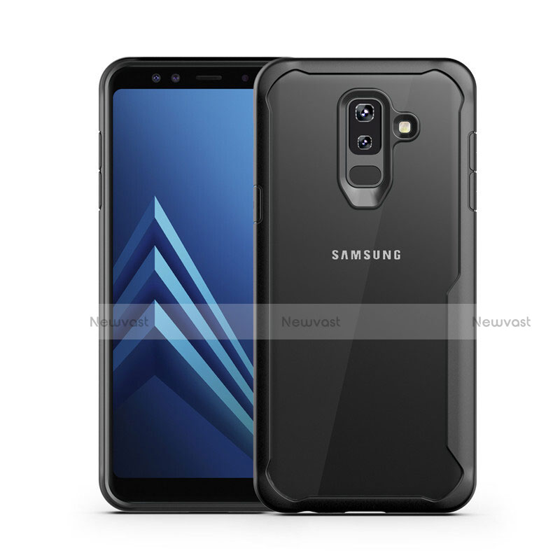 Silicone Transparent Mirror Frame Case for Samsung Galaxy A9 Star Lite Black