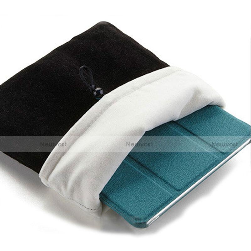 Sleeve Velvet Bag Case Pocket for Apple iPad 2 Black