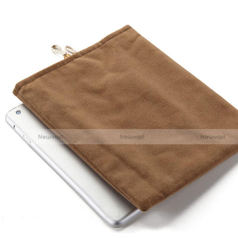 Sleeve Velvet Bag Case Pocket for Apple iPad 2 Brown
