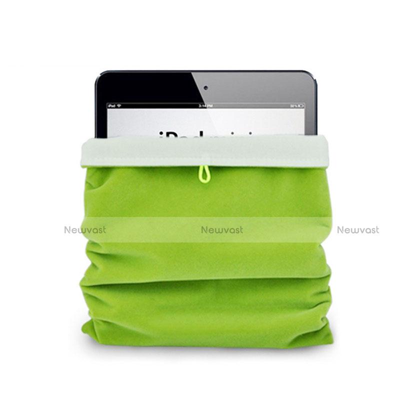 Sleeve Velvet Bag Case Pocket for Apple iPad 2 Green