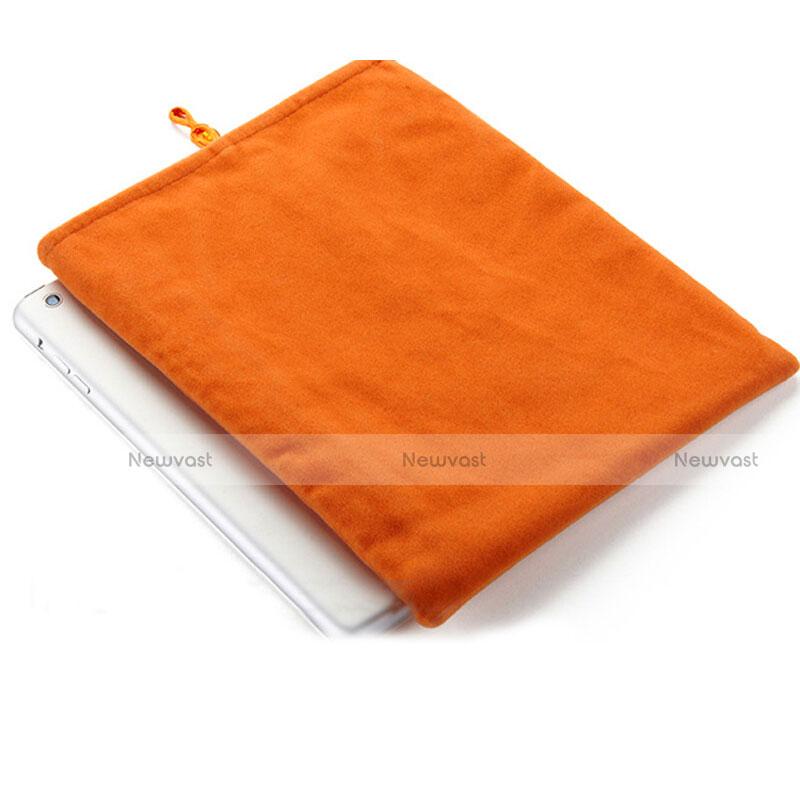 Sleeve Velvet Bag Case Pocket for Apple iPad 2 Orange