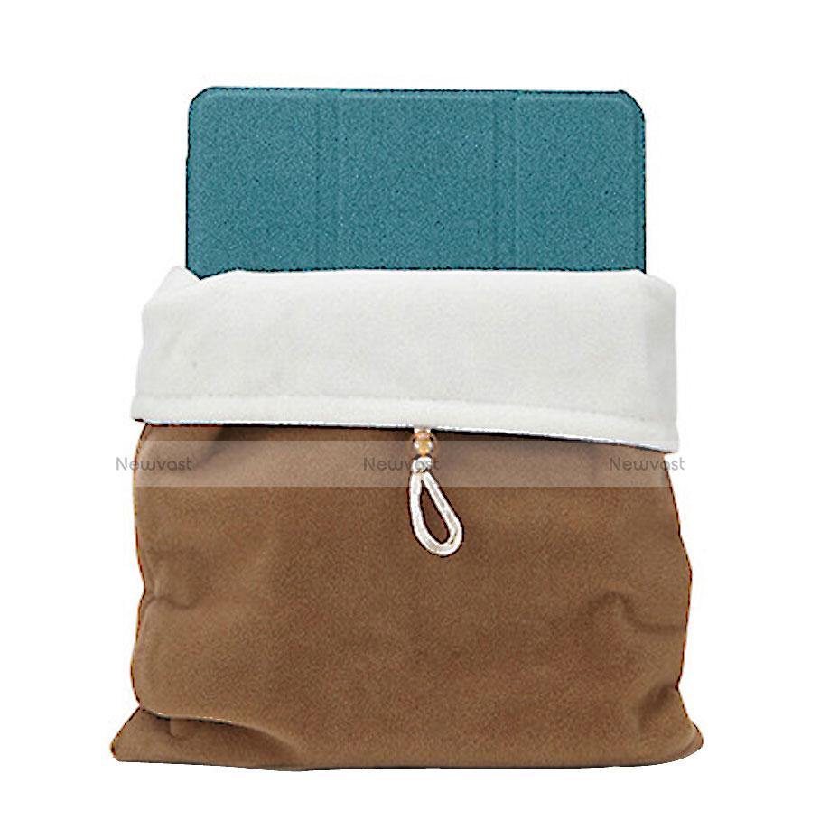 Sleeve Velvet Bag Case Pocket for Apple iPad 3 Brown