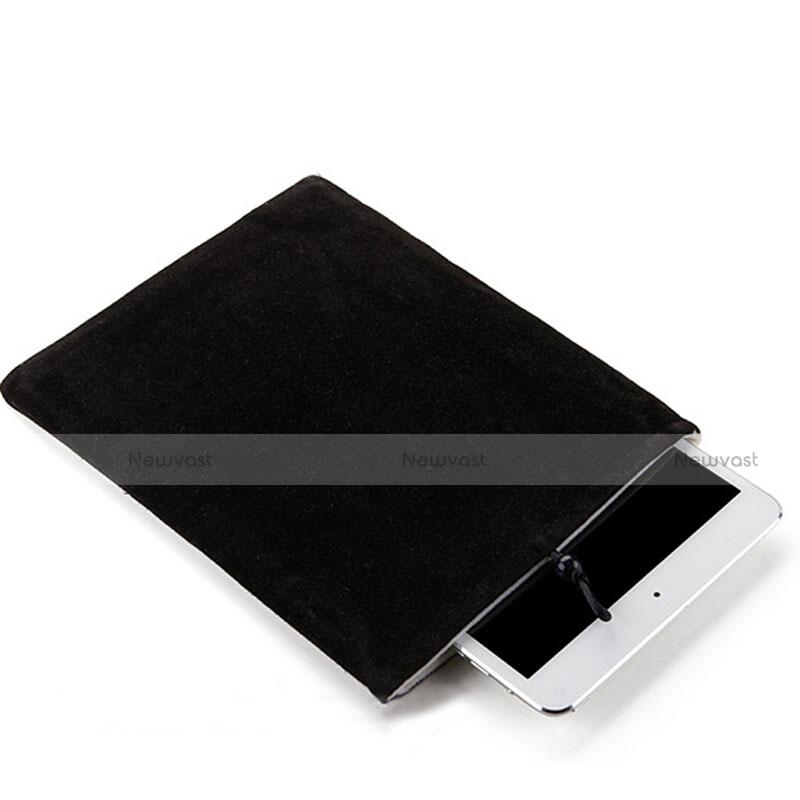 Sleeve Velvet Bag Case Pocket for Apple iPad 4 Black