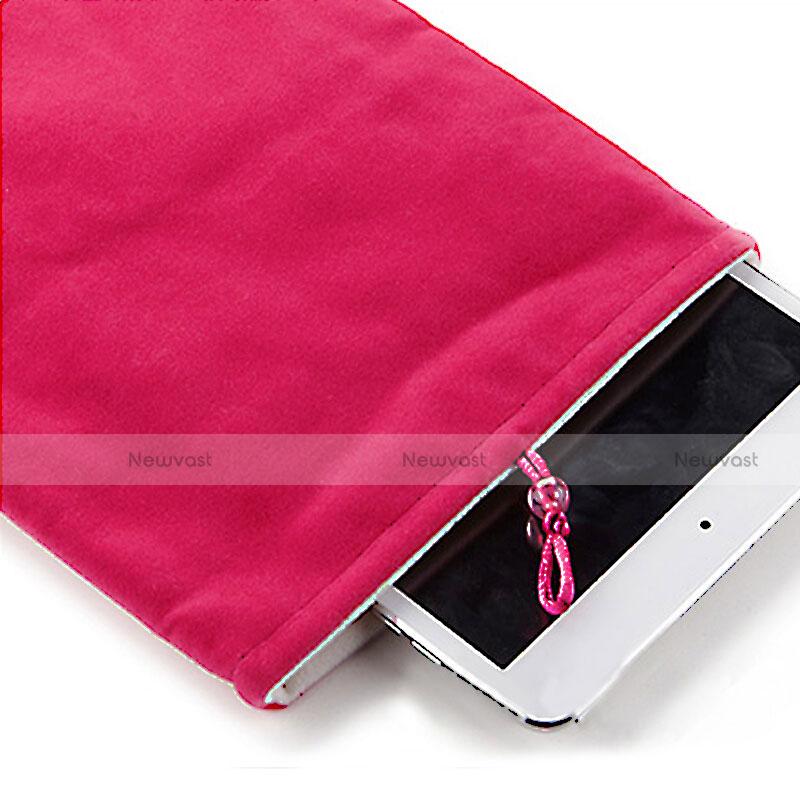 Sleeve Velvet Bag Case Pocket for Apple iPad 4 Hot Pink