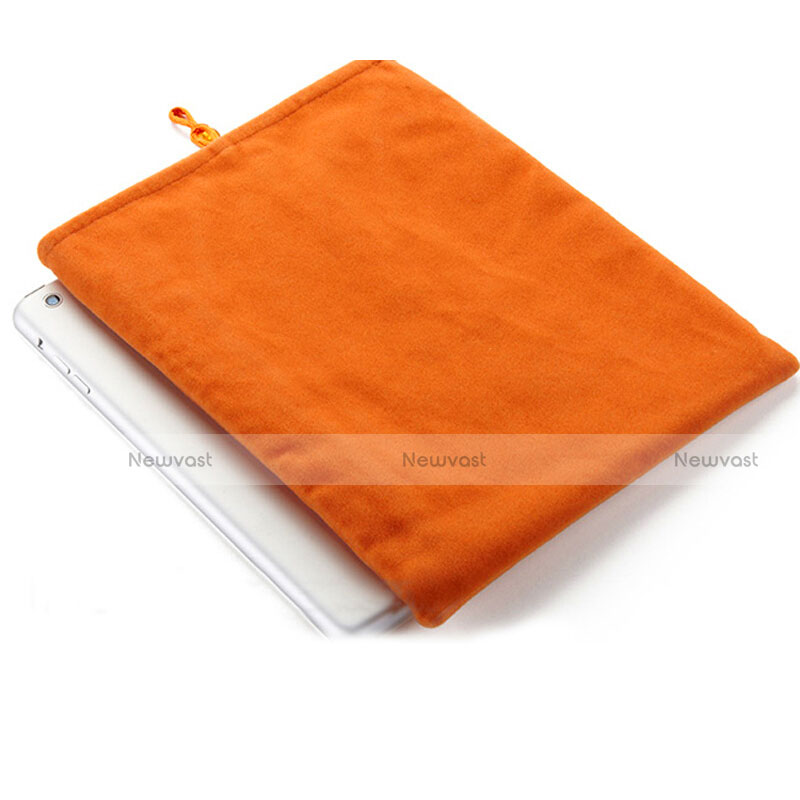 Sleeve Velvet Bag Case Pocket for Apple iPad 4 Orange