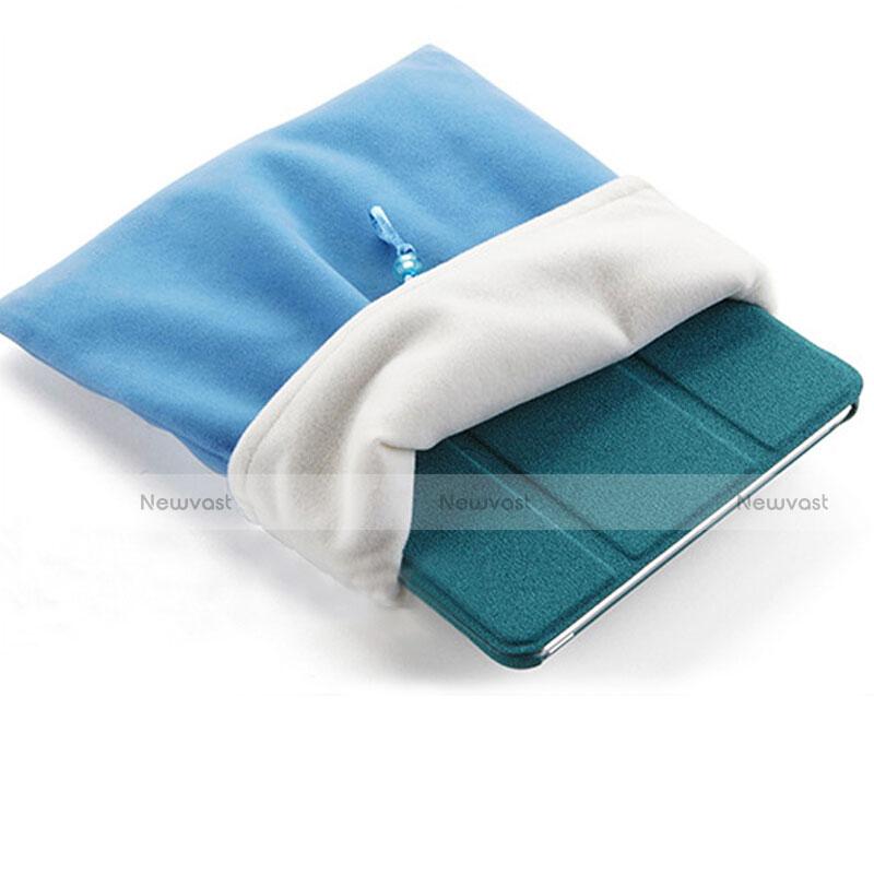 Sleeve Velvet Bag Case Pocket for Apple iPad 4 Sky Blue