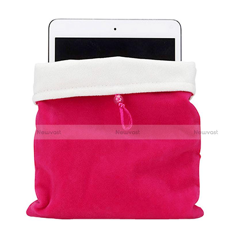 Sleeve Velvet Bag Case Pocket for Apple iPad Air 2 Hot Pink