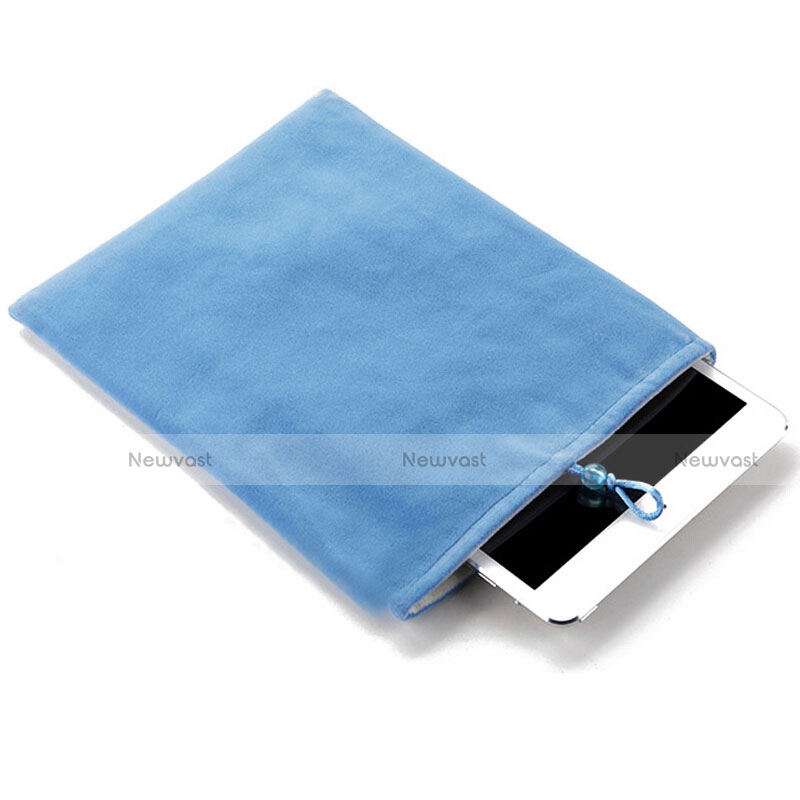 Sleeve Velvet Bag Case Pocket for Apple iPad Air 2 Sky Blue