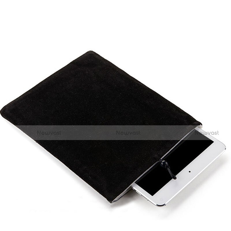 Sleeve Velvet Bag Case Pocket for Apple iPad Air Black
