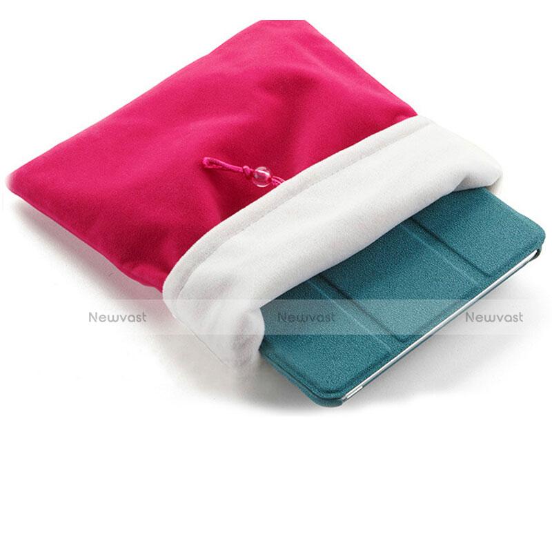 Sleeve Velvet Bag Case Pocket for Apple iPad Mini 2 Hot Pink