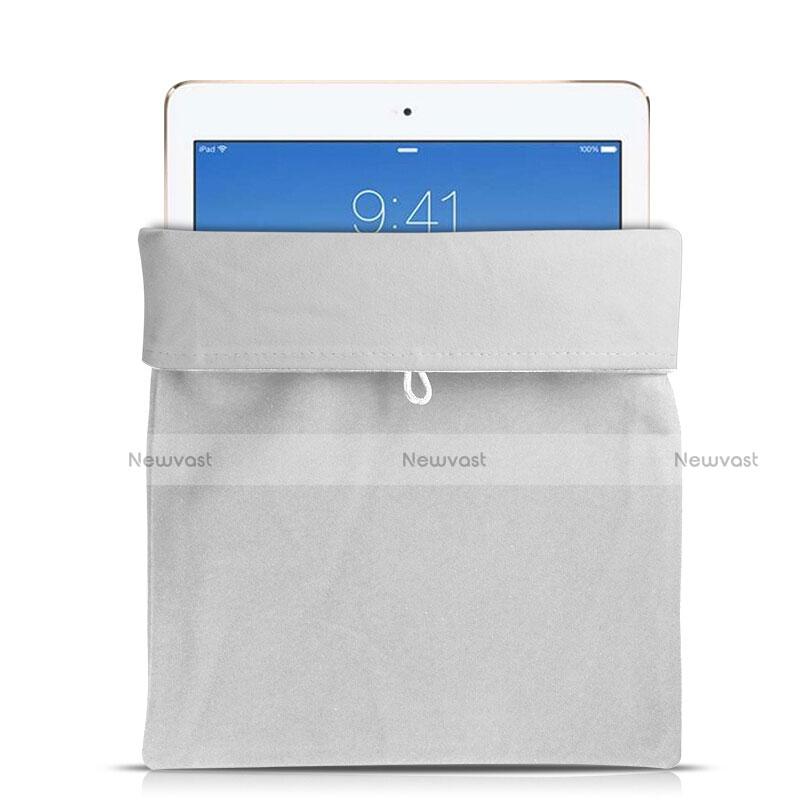 Sleeve Velvet Bag Case Pocket for Apple iPad Mini 4 White