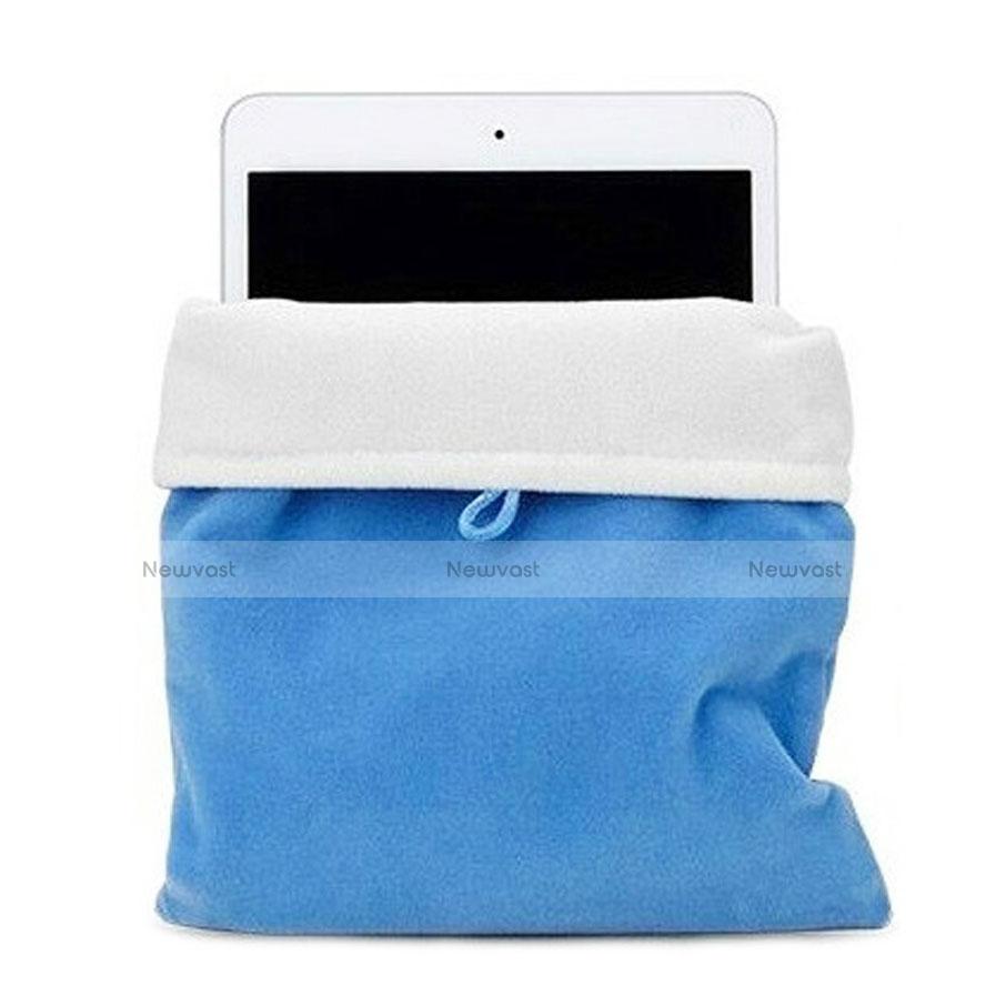 Sleeve Velvet Bag Case Pocket for Apple iPad Mini Sky Blue