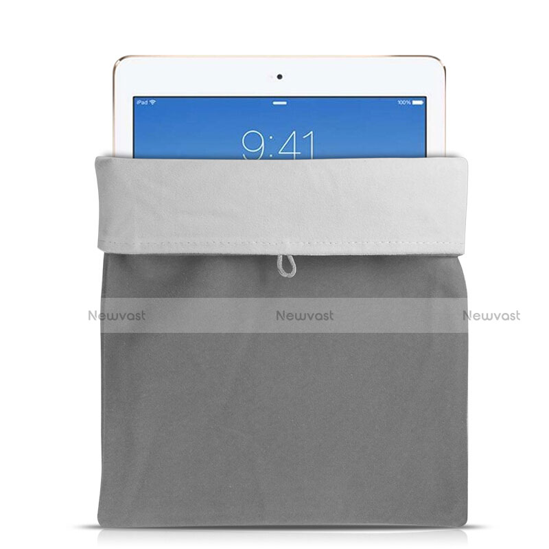 Sleeve Velvet Bag Case Pocket for Apple iPad Pro 10.5 Gray
