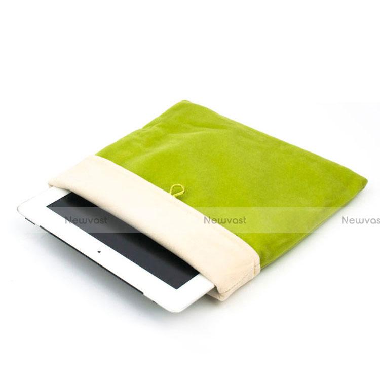 Sleeve Velvet Bag Case Pocket for Apple iPad Pro 12.9 (2017) Green