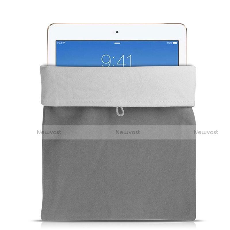 Sleeve Velvet Bag Case Pocket for Asus Transformer Book T300 Chi Gray