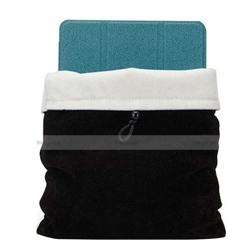 Sleeve Velvet Bag Case Pocket for Huawei MediaPad X2 Black