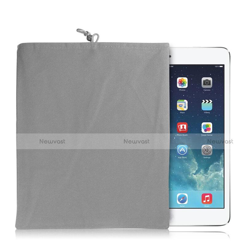 Sleeve Velvet Bag Case Pocket for Huawei MediaPad X2 Gray