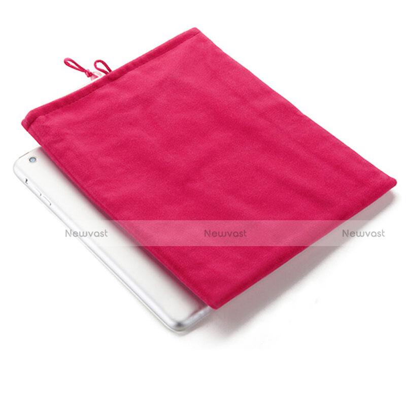 Sleeve Velvet Bag Case Pocket for Huawei MediaPad X2 Hot Pink