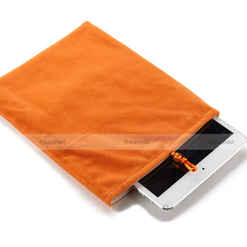 Sleeve Velvet Bag Case Pocket for Huawei MediaPad X2 Orange