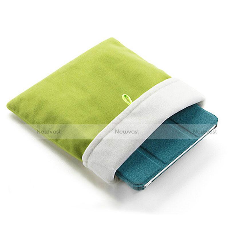Sleeve Velvet Bag Case Pocket for Microsoft Surface Pro 4 Green