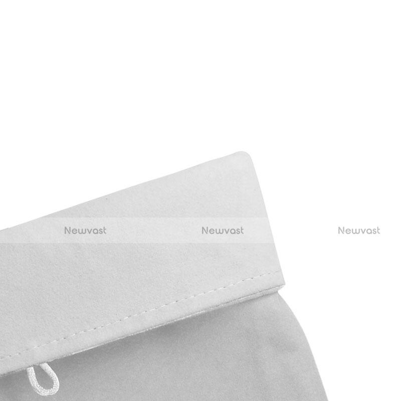 Sleeve Velvet Bag Case Pocket for Microsoft Surface Pro 4 White