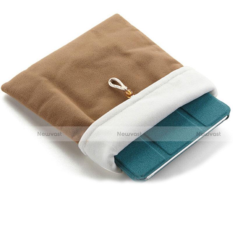 Sleeve Velvet Bag Case Pocket for Samsung Galaxy Tab S2 8.0 SM-T710 SM-T715 Brown