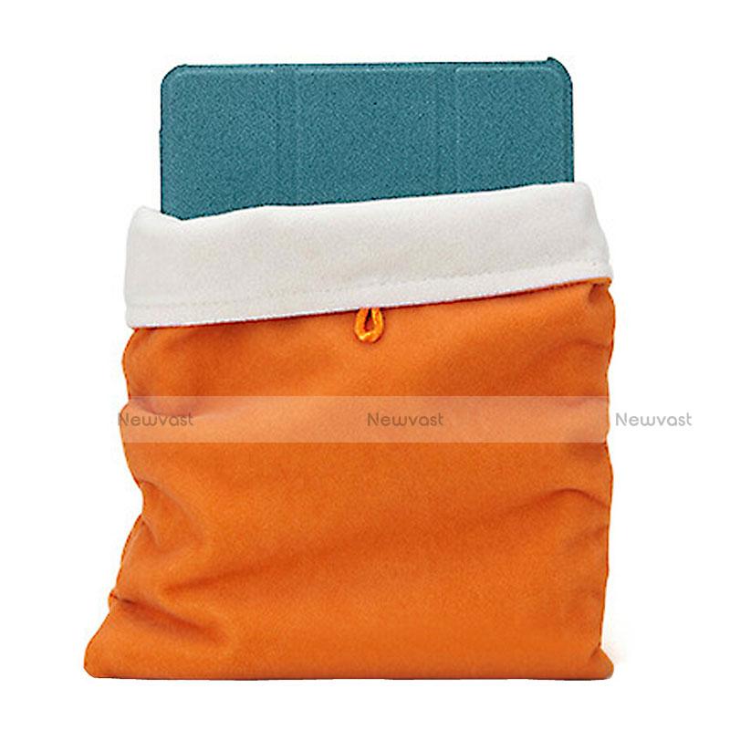 Sleeve Velvet Bag Case Pocket for Samsung Galaxy Tab S2 8.0 SM-T710 SM-T715 Orange