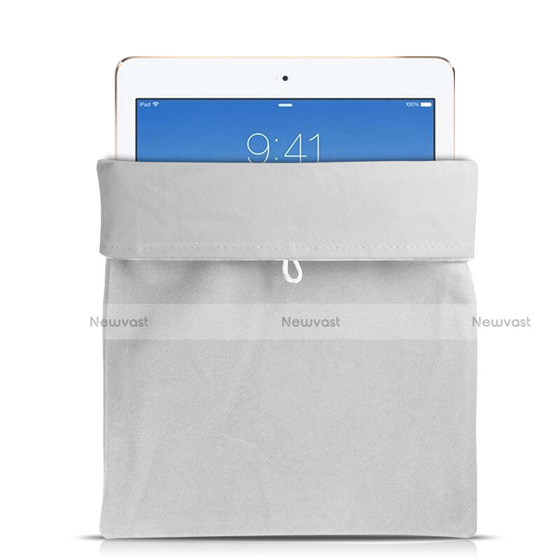 Sleeve Velvet Bag Case Pocket for Samsung Galaxy Tab S2 8.0 SM-T710 SM-T715 White