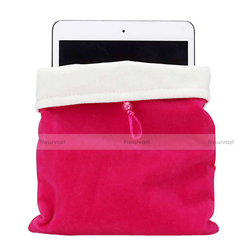 Sleeve Velvet Bag Case Pocket for Samsung Galaxy Tab S2 9.7 SM-T810 SM-T815 Hot Pink