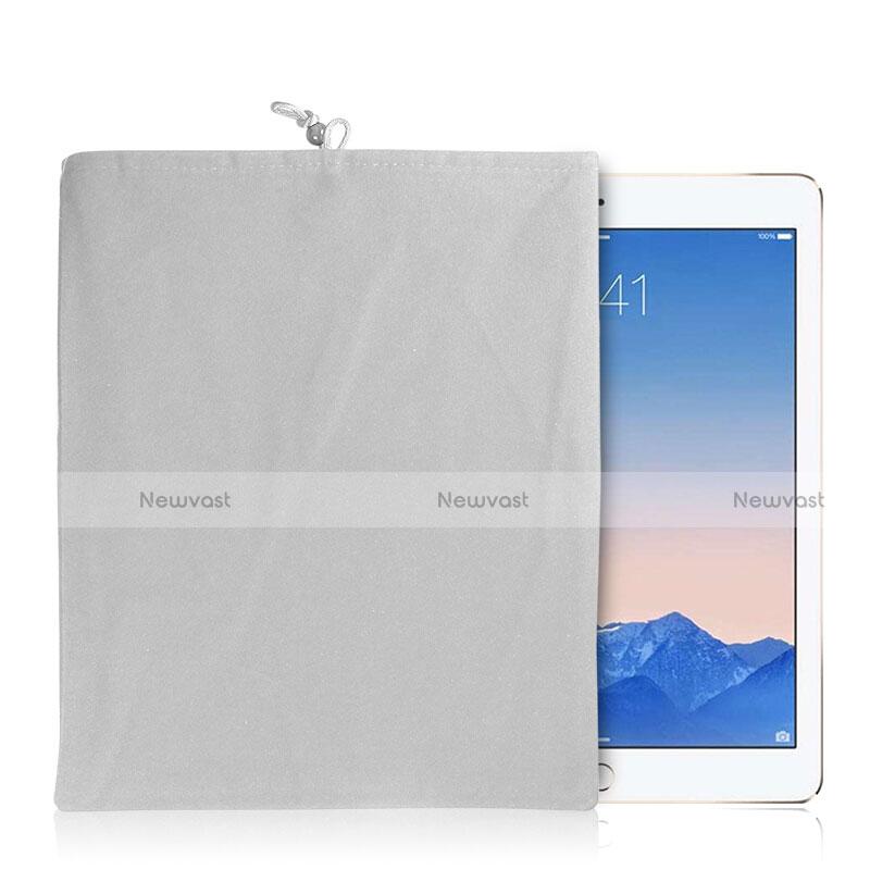Sleeve Velvet Bag Case Pocket for Samsung Galaxy Tab S2 9.7 SM-T810 SM-T815 White