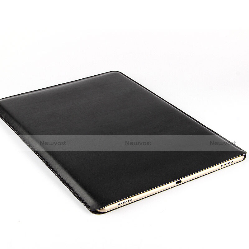 Sleeve Velvet Bag Leather Case Pocket for Apple iPad 2 Black