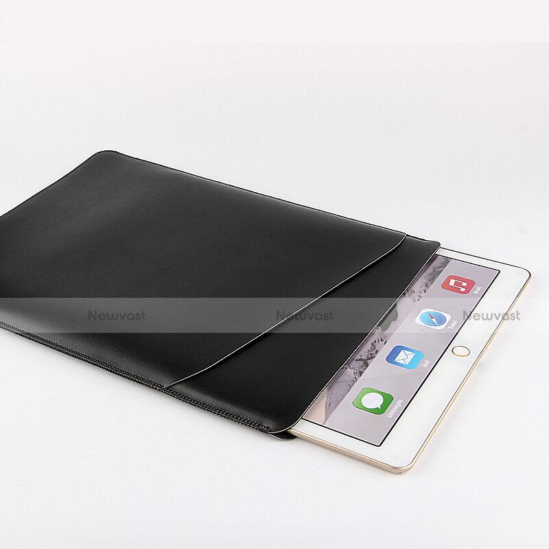 Sleeve Velvet Bag Leather Case Pocket for Apple iPad Air 2 Black