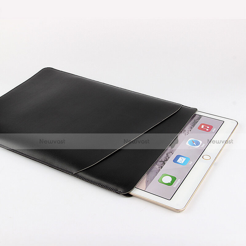Sleeve Velvet Bag Leather Case Pocket for Apple iPad Air Black