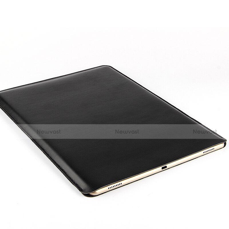 Sleeve Velvet Bag Leather Case Pocket for Huawei MediaPad X2 Black