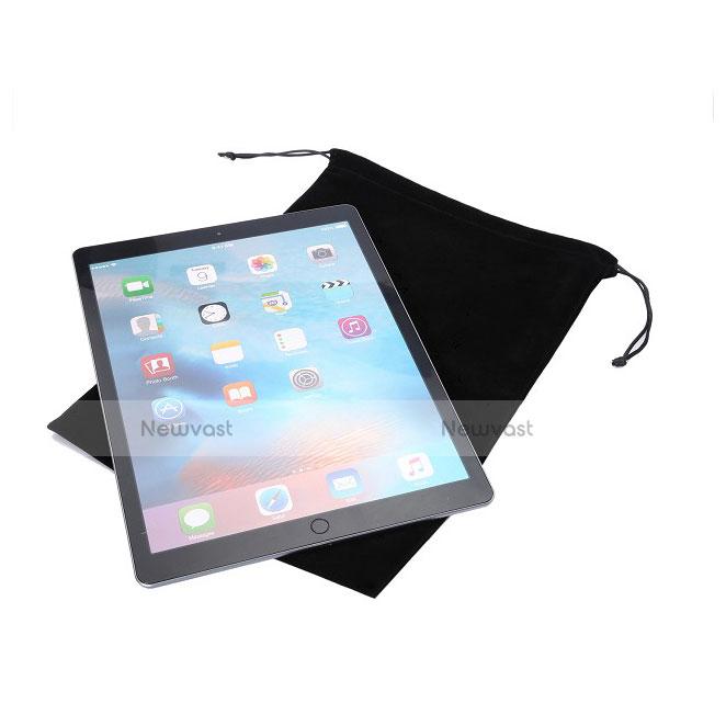 Sleeve Velvet Bag Slip Case for Apple iPad 2 Black