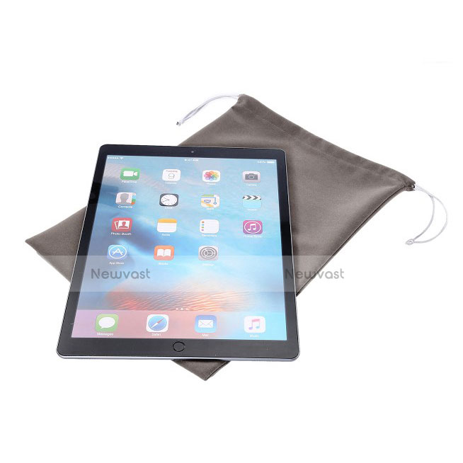 Sleeve Velvet Bag Slip Pouch for Apple iPad Pro 12.9 (2017) Gray